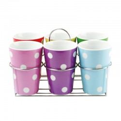 PRESENT TIME - Mugs Multi Dots set 6 pezzi