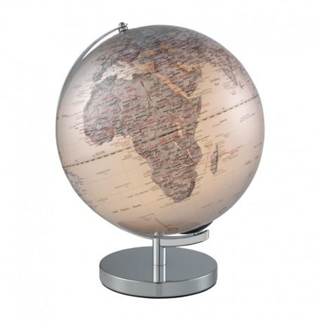 MASCAGNI - Mappamondo illuminato argento ø 30 cm