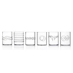 ICHENDORF - Bicchieri acqua Decò trasparente set 6 pezzi