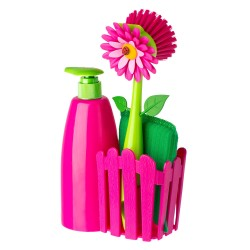 VIGAR - Set lavello Flower Power fucsia