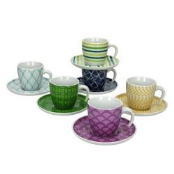 TOGNANA - Tazzine caffè con piattino Mix & Match set 6 pezzi