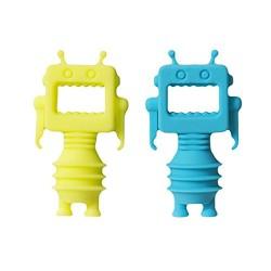 PRESENT TIME - Tappi bottiglia Robot set 2 pezzi