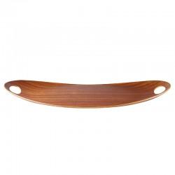 ASA - Vassoio ovale finitura mogano Chava 55x35 cm