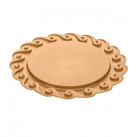 KOZIOL - Piatto per torta Amadeus oro perlato