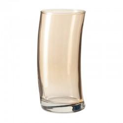 LEONARDO - Bicchieri alti Swing marrone set 6 pezzi