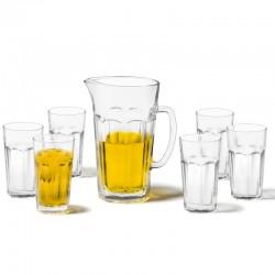 LEONARDO - Brocca con bicchieri Rock set 7 pezzi