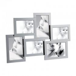 MASCAGNI - Portafoto multiplo in metallo lucido
