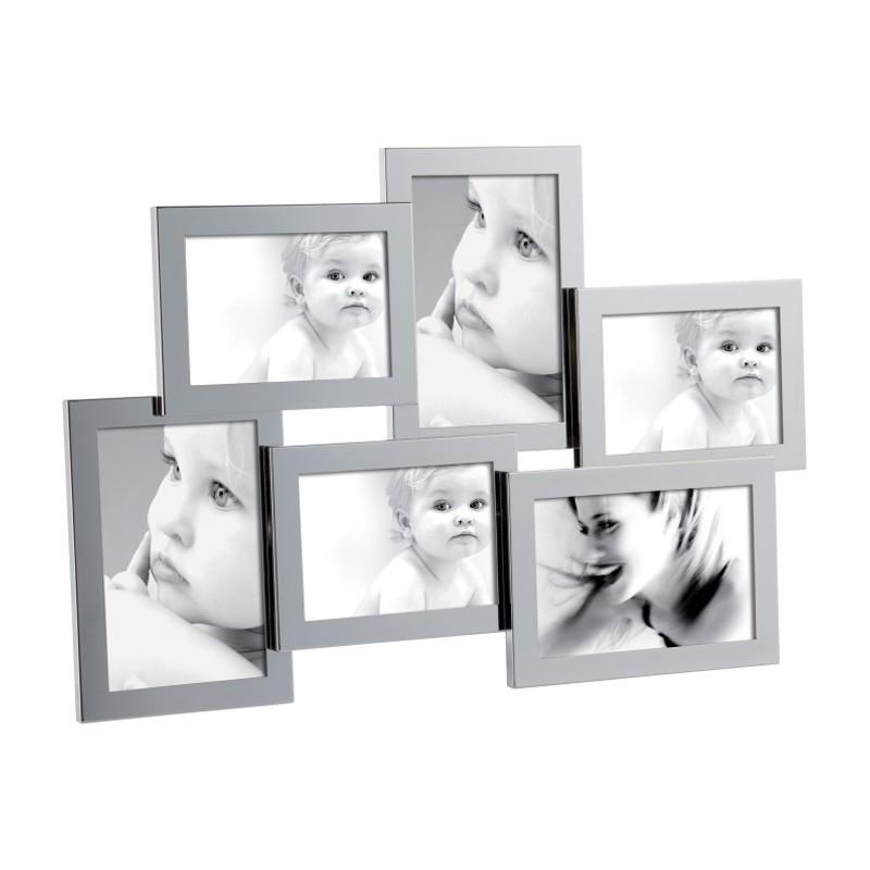 Mascagni portafoto multiplo in metallo lucido for Portafoto multiplo da tavolo