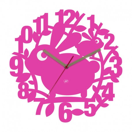 JIP - Orologio da parete Robbie the Rabbit rosa