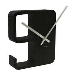 KARLSSON - orologio da parete Big 9 nero